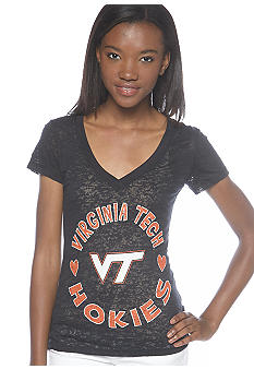 Soffe Virginia Tech V-neck Burnout Tee