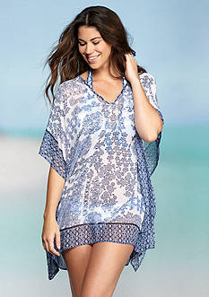 Tommy Bahama Stamped Medallion Tunic Cover Up