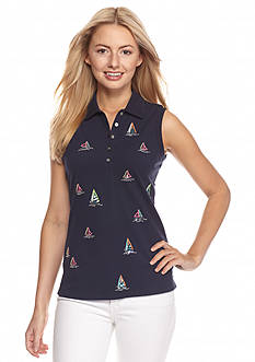 Tommy Bahama Sailboat Sleeveless Polo Shirt
