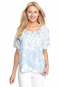 Tommy Bahama Leaf Relief Keyhole Top