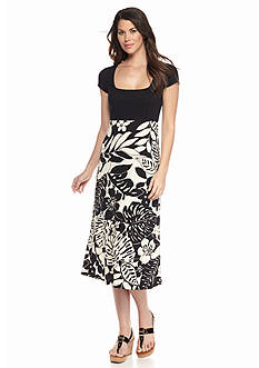 Tommy Bahama Leaf Relief Midi Dress