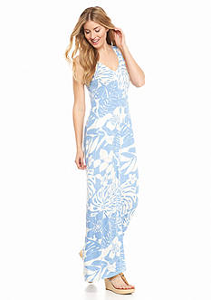 Tommy Bahama Leaf Relief Long Dress