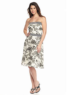 Tommy Bahama Marceau Toile Strapless Sundress