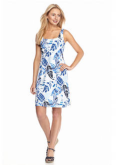 Tommy Bahama All Over Leaf Print Short Dress