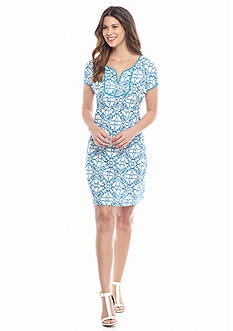 Tommy Bahama Swirl Print Knit Dress