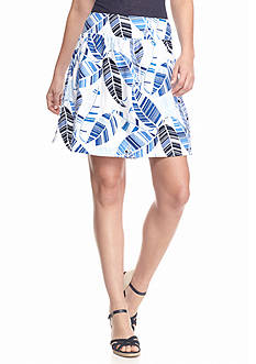 Tommy Bahama Knit Leaf Print Skirt