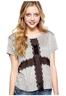 Eyeshadow Lace Cross Tee