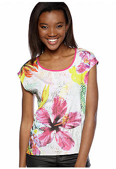 Eyeshadow Tropical Twin Print Top