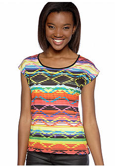 Eyeshadow Aztec Twin Print Top