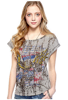 Eyeshadow Crop Eagle Graphic Tee