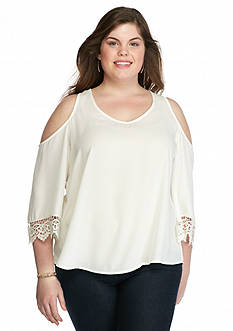 Eyeshadow Plus Size Cold Shoulder Top