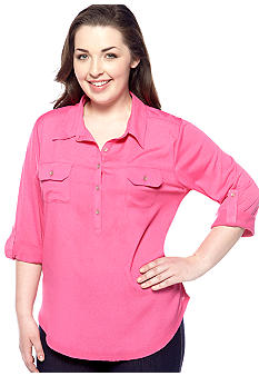 Eyeshadow Plus Size Utility Shirt
