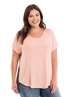 Eyeshadow Plus Size Printed Back Top