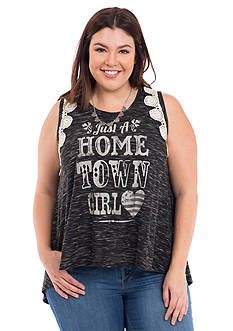 Eyeshadow Plus Size Hometown Girl Tank