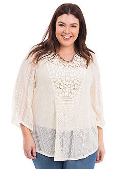 Eyeshadow Plus Size Crochet Top
