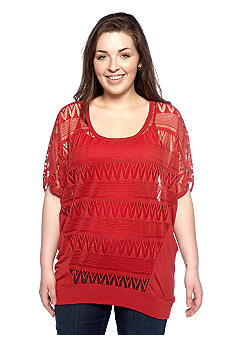 Eyeshadow Plus Size Crochet Top