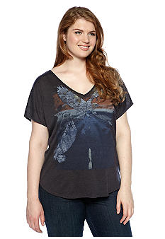 Eyeshadow Plus Size Eagle Screen Tee