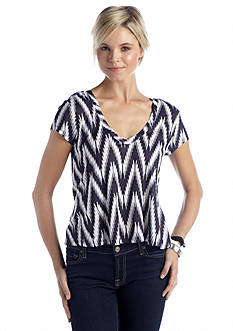 Eyeshadow Chevron Trapeze Top