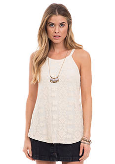 Eyeshadow Lace High Neck Tank