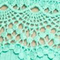 Knit Tops For Juniors: Fresh Aqua Eyeshadow Crochet Hem Tank