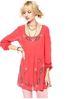 Free People Solid Beaded Batiste Tunic