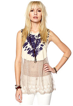Free People Bonnaroo Tie Dye Swit Knit Top