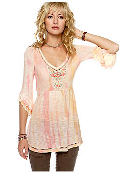Free People Tie Dye Slub Tunic