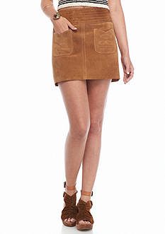 Free People Modern Love Suede Mini Skirt