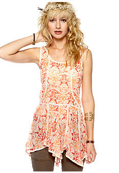 Free People Printed Chiffon Slip