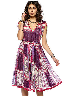 Free People Printed Warm Rayon Rose Garden Dress