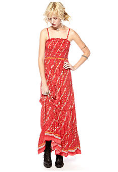 Free People Printed Sheila's Rayon Maxi Dress