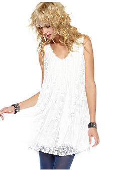 Free People Stripe Lace Dress