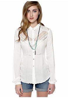 Free People Wild Wind Woven Top