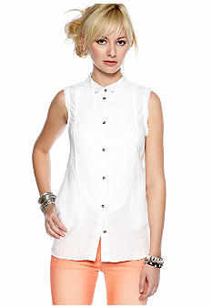 Free People Sleeveless Linen Shirt