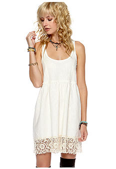 Free People Solid Linen Dress