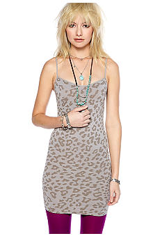 Free People Leopard Print Mini Slip
