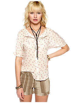 Free People Printed American Pie Top