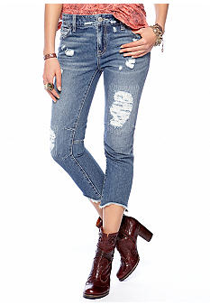 Free People Destroyed Boyfriend Jean