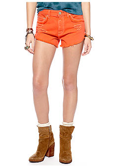 Free People Overdye Denim Cut Off Short