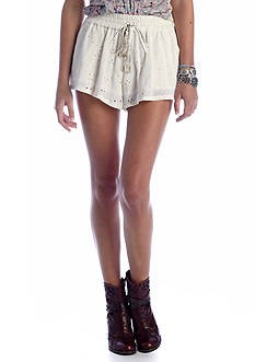 Free People Eyelet Embellished Short