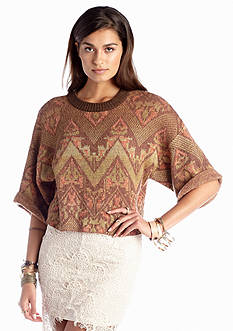Free People Superstar Printed Pullover Sweater