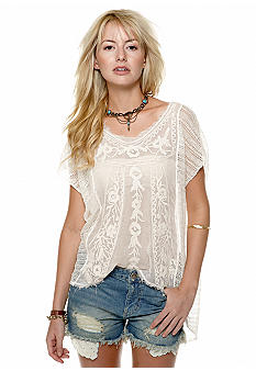 Free People Roses and Thread Sweater Tee
