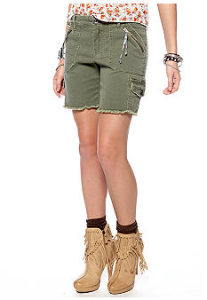 Free People Military Twill Longer Cargo Short