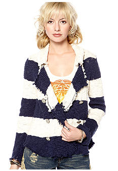 Free People Cozy Cotton Slub Sweater Jacket
