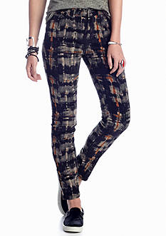 Free People Plaid Hi Rise Skinny Cord