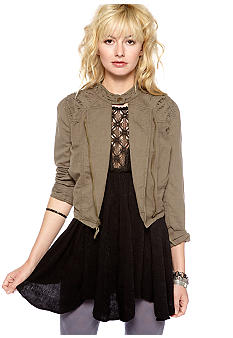 Free People Cut-work Moto Jacket