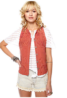 Free People Vintage Chambray Vest