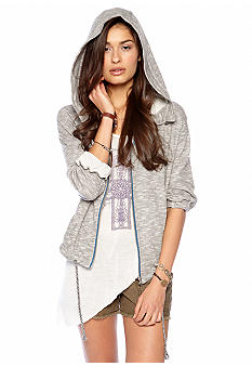 Free People Drippy Hooded Knit Jacket
