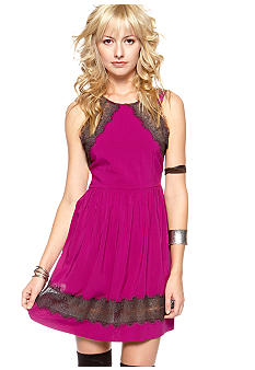 Free People Lace Accented Sleeveless Dress