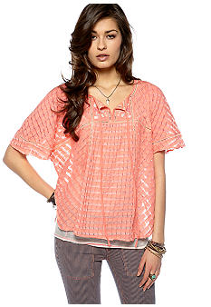 Free People Check Mate Knit Top
